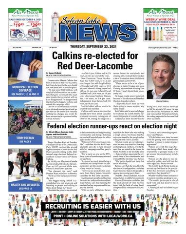 Sylvan Lake News, September 23, 2021
