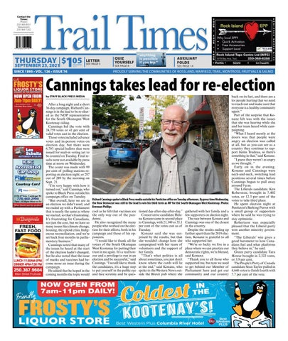 Trail Daily Times/West Kootenay Advertiser, September 23, 2021