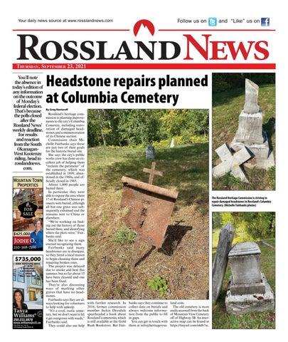 Rossland News/West Kootenay Advertiser, September 23, 2021