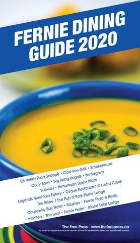Fernie Dining Guide 2020