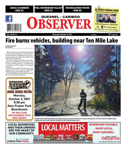 Quesnel Cariboo Observer, September 29, 2021
