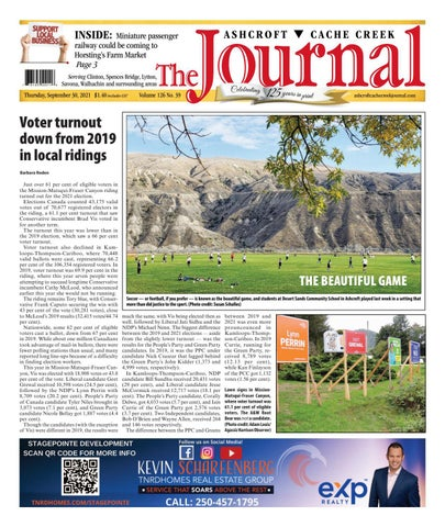 Ashcroft Cache Creek Journal, September 30, 2021