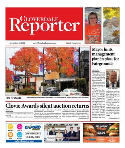 Cloverdale Reporter, September 30, 2021