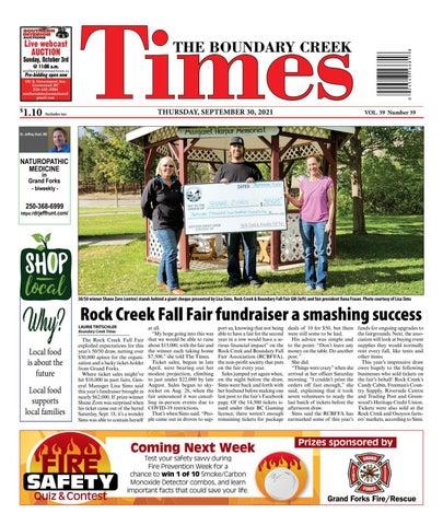 Boundary Creek Times, September 30, 2021