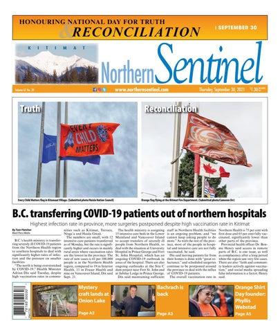 Kitimat Northern Sentinel/Northern Connector, September 30, 2021