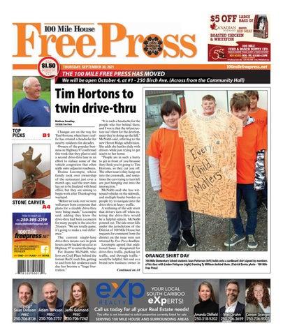 100 Mile House Free Press, September 30, 2021