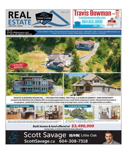 October 01, 2021 Real Estate Weekly - Abbotsford