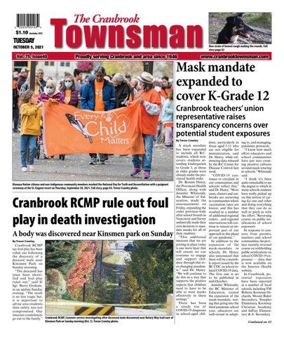 Cranbrook Daily Townsman, October 5, 2021