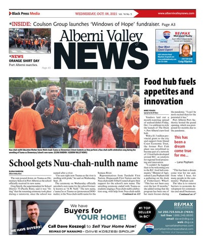 Alberni Valley News, October 6, 2021