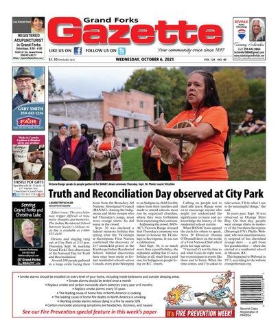 Grand Forks Gazette/West Kootenay Advertiser, October 6, 2021