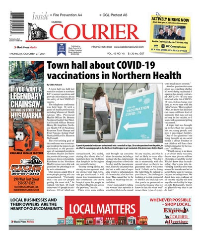 Caledonia Courier/Stuart Nechako Advertiser, October 7, 2021