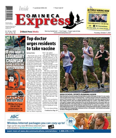Vanderhoof Omineca Express/Stuart Nechako Advertiser, October 7, 2021