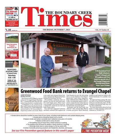Boundary Creek Times, October 7, 2021