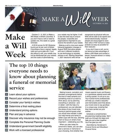 Make a Will Week 2021