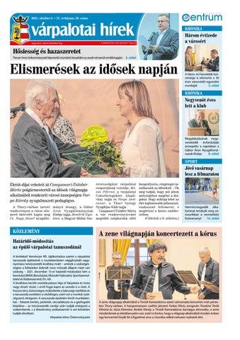 Várpalotai Hírek - 2021. 10. 08.