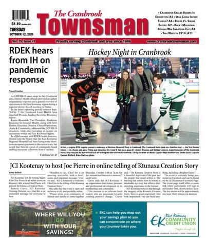 Cranbrook Daily Townsman, October 12, 2021