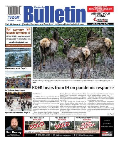 Kimberley Daily Bulletin, October 12, 2021