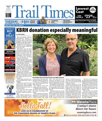 Trail Daily Times/West Kootenay Advertiser, October 12, 2021