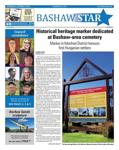 Bashaw Star, October 13, 2021