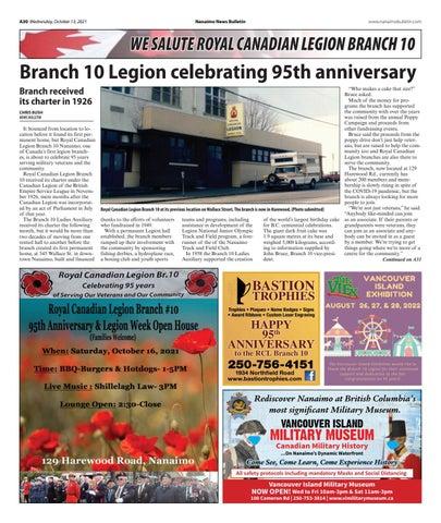 Branch 10 Legion 95th Anniversary - October 13, 2021
