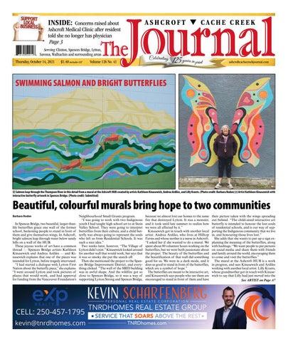 Ashcroft Cache Creek Journal, October 14, 2021