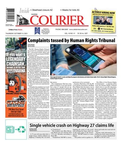 Caledonia Courier/Stuart Nechako Advertiser, October 14, 2021