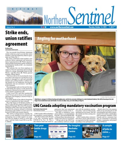 Kitimat Northern Sentinel/Northern Connector, October 14, 2021