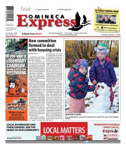 Vanderhoof Omineca Express/Stuart Nechako Advertiser, October 14, 2021