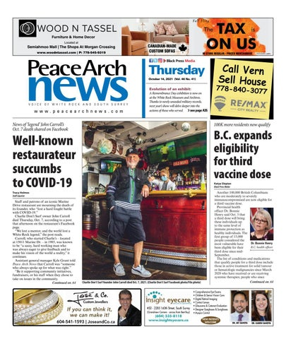 Peace Arch News, October 14, 2021