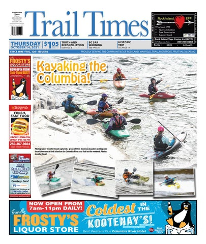 Trail Daily Times/West Kootenay Advertiser, October 14, 2021
