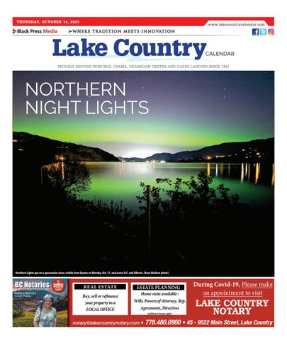 Lake Country Calendar, October 14, 2021