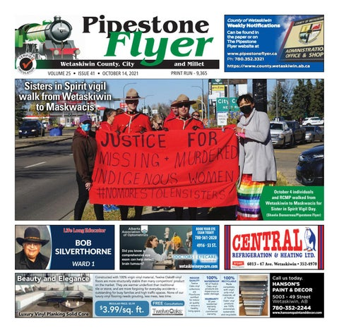 Wetaskiwin/Millet Pipestone Flyer, October 14, 2021