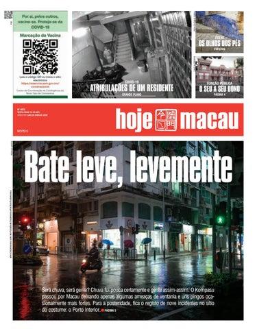 Hoje Macau 15 OUTUBRO 2021 #4871