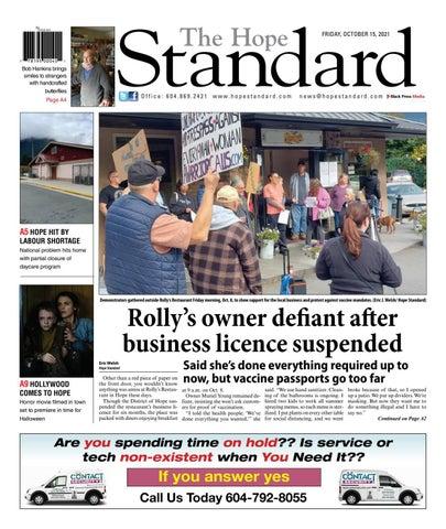 Hope Standard, October 15, 2021