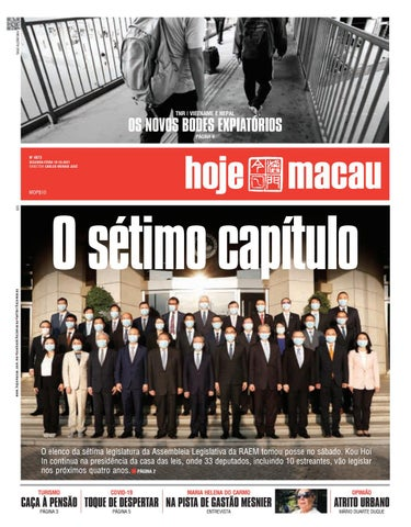 Hoje Macau 18 OUTUBRO 2021 #4872