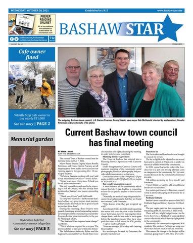 Bashaw Star, October 20, 2021