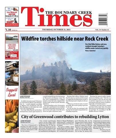 Boundary Creek Times, October 21, 2021