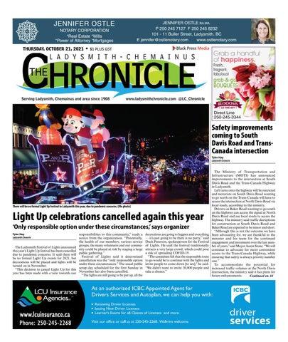 Ladysmith Chronicle, October 21, 2021