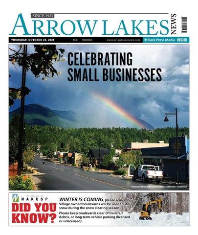 Arrow Lakes News, October 21, 2021