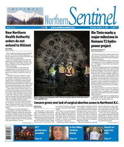 Kitimat Northern Sentinel/Northern Connector, October 21, 2021