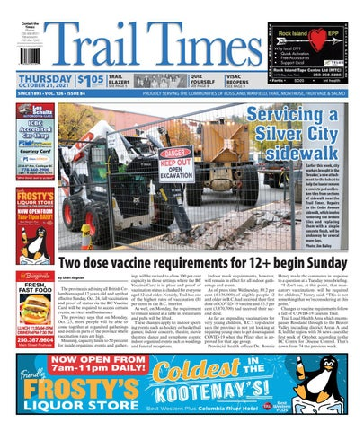 Trail Daily Times/West Kootenay Advertiser, October 21, 2021