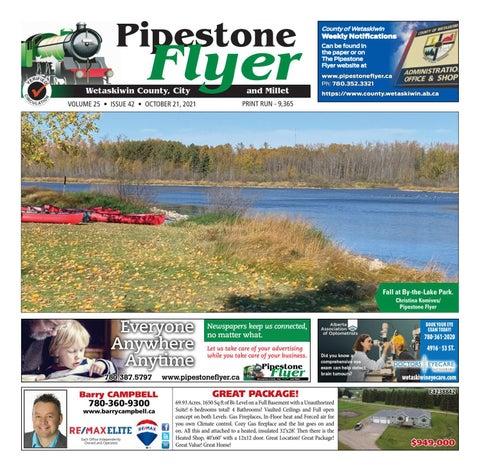 Wetaskiwin/Millet Pipestone Flyer, October 21, 2021
