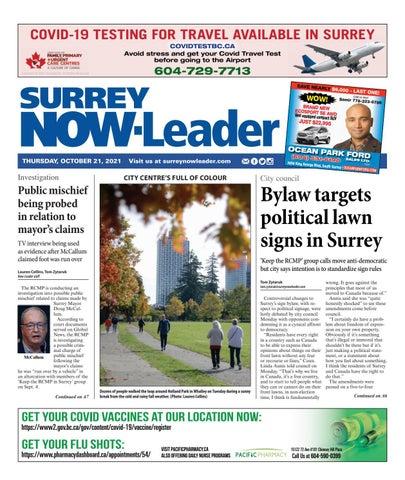 Surrey Now Leader, October 21, 2021