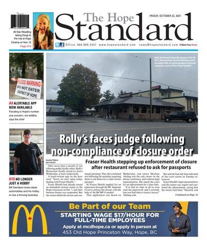 Hope Standard, October 22, 2021