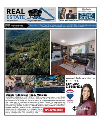 October 22, 2021 Real Estate Weekly - Abbotsford
