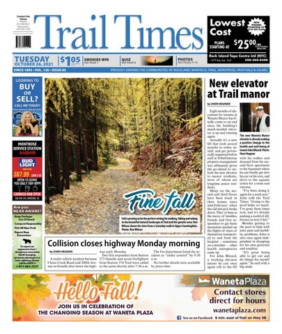 Trail Daily Times/West Kootenay Advertiser, October 26, 2021